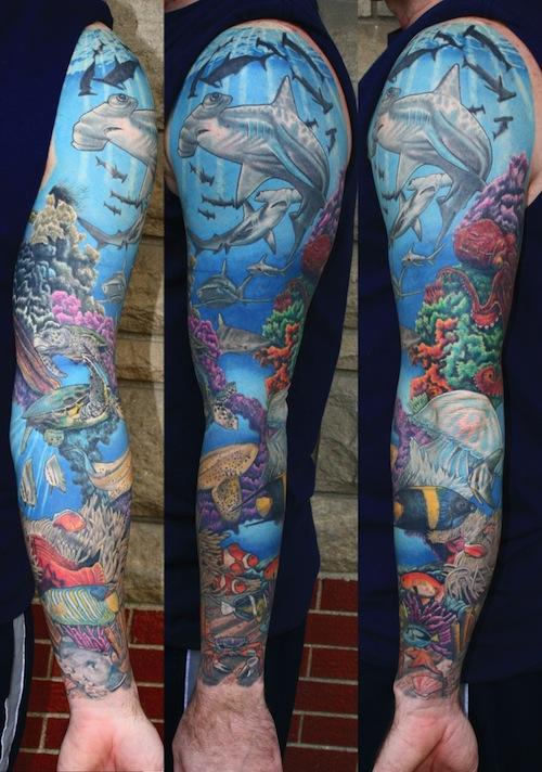 54+ Amazing Sea Creature Tattoos Ideas