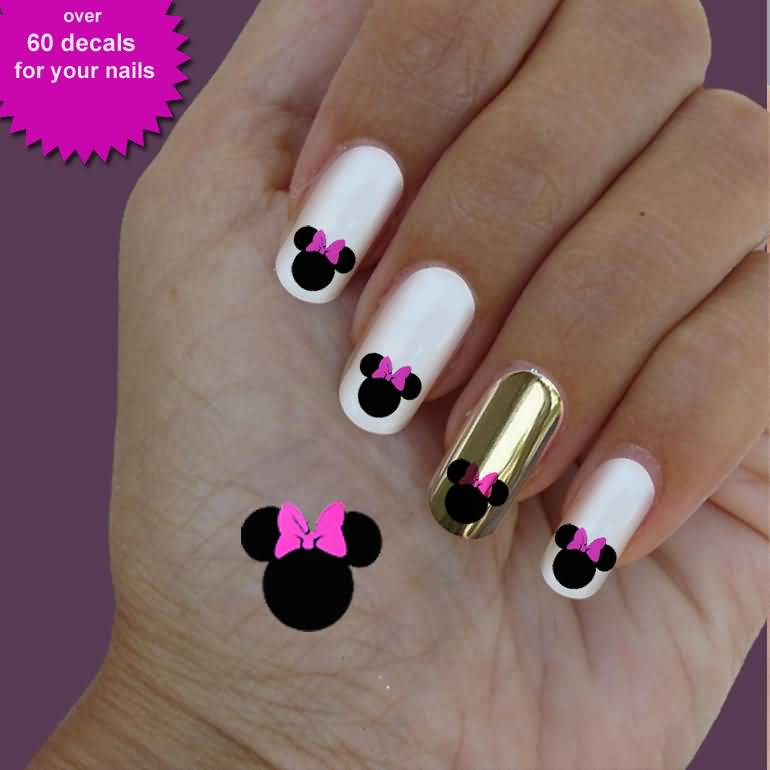 Minnie mouse nail designs image collections nail art and nail minnie mouse nail art stickers best nails 2018 60 most beautiful cartoon nail art design ideas prinsesfo Choice Image