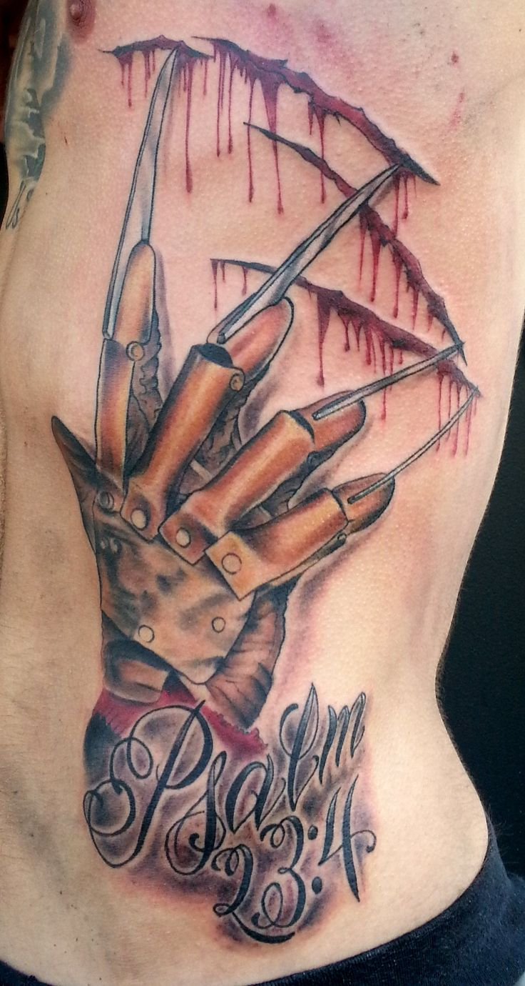 5+ Freddy Krueger Claw Scratch Tattoos