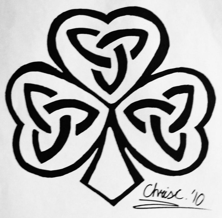 nice black celtic shamrock tattoo design by ticklemehoho. Black Bedroom Furniture Sets. Home Design Ideas
