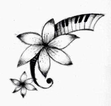 Interior Nice Designs nice flower with piano keys tattoo design by candy marie