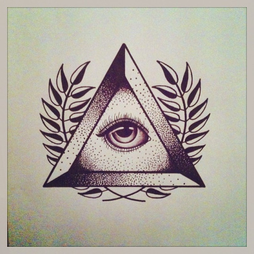 Illuminati Triangle Tattoo 27+ Triangle Eye Tatto...