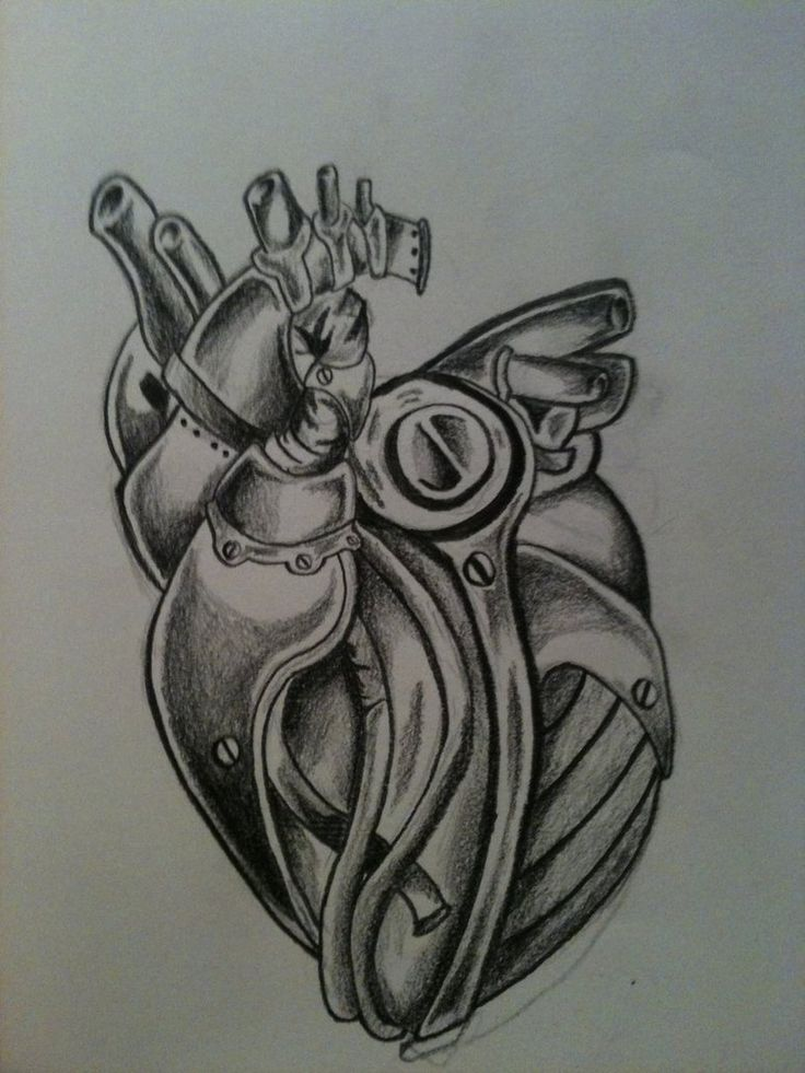 Biomechanical Heart Tattoo Pictures