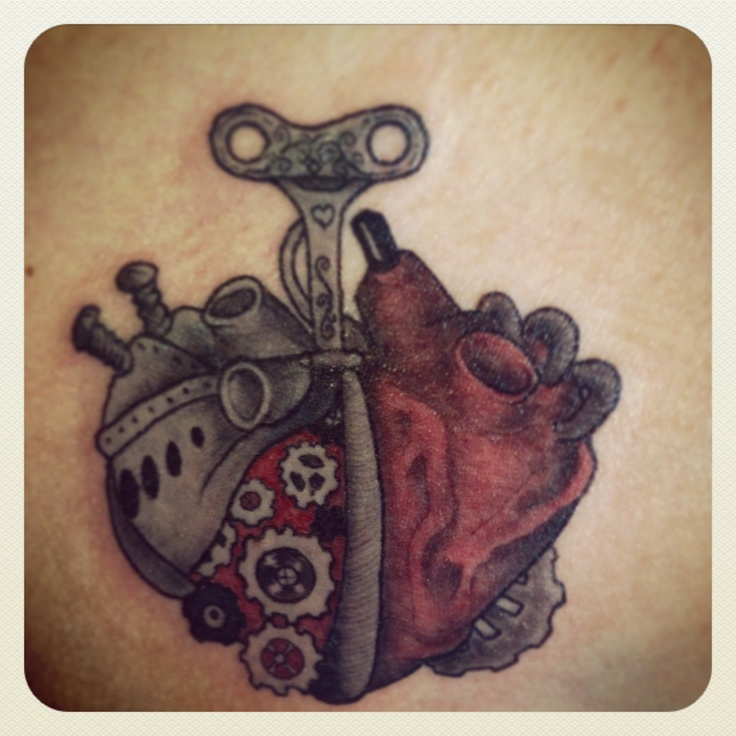 28 Steampunk Tattoo Designs Ideas: 28+ Mechanical Heart Tattoos