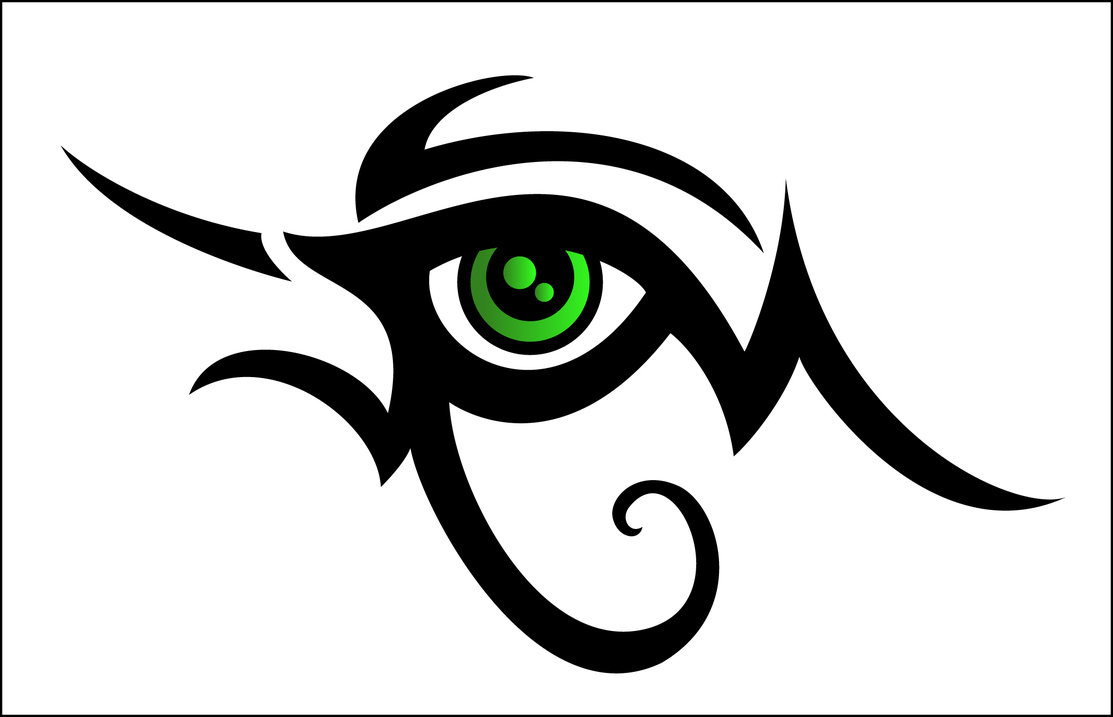 45 latest horus eye tattoo designs nice tribal horus eye with green eyeball tattoo design biocorpaavc Images