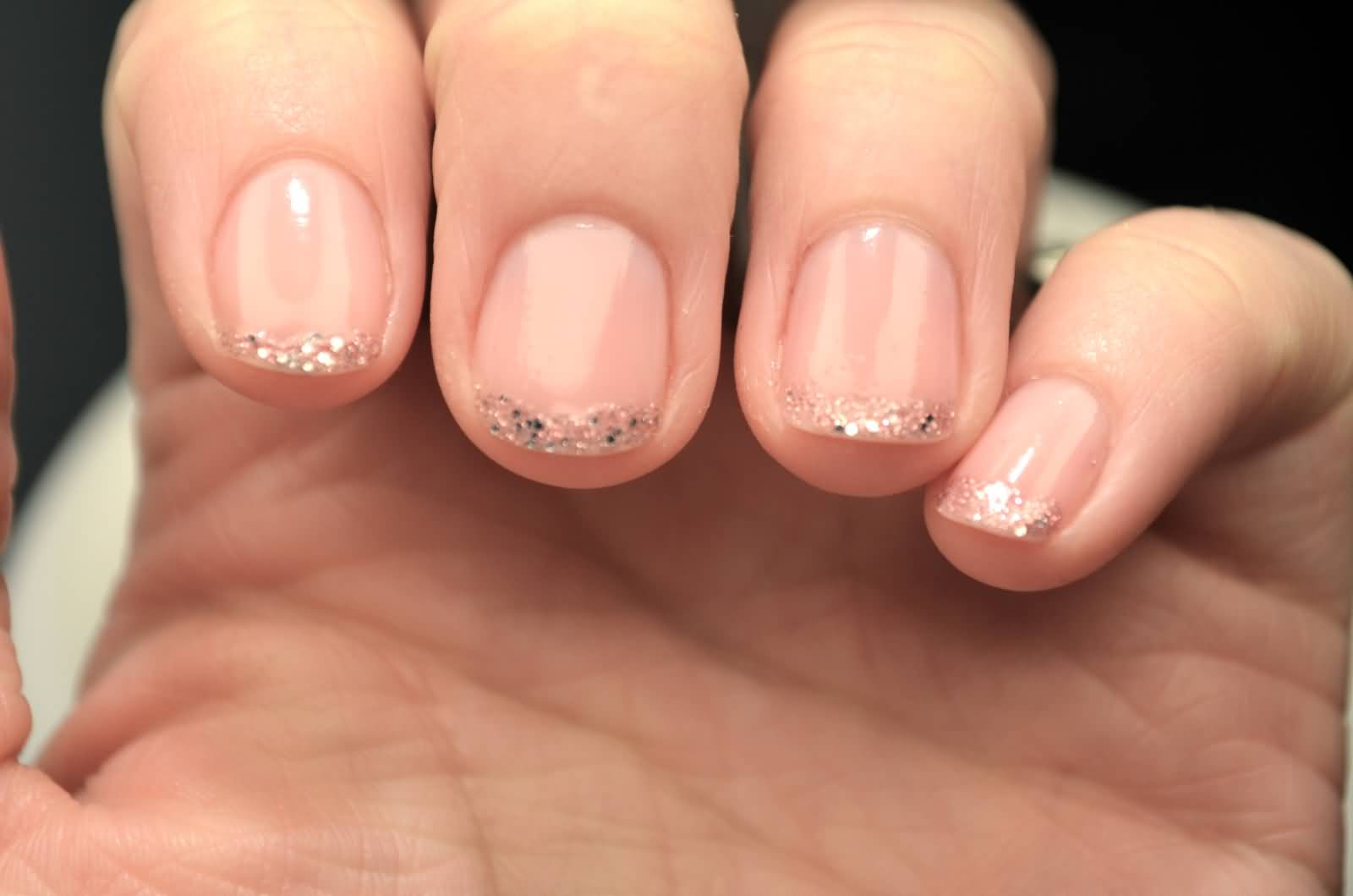 Image result for glitter tips nails