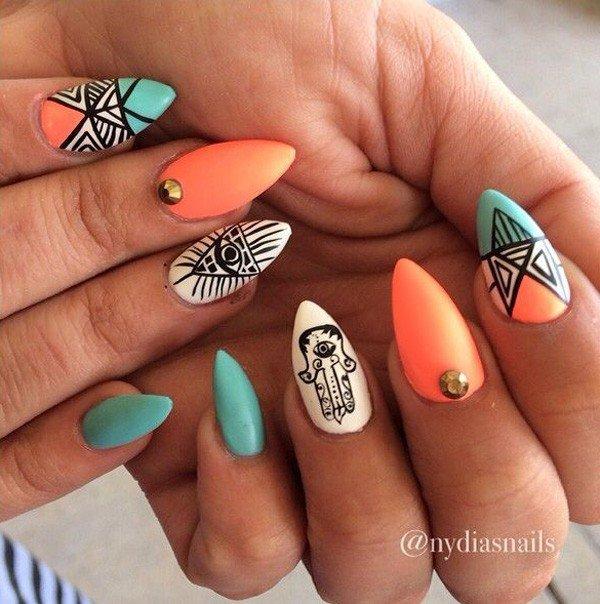 50+ Best Tribal Nail Art Design Ideas