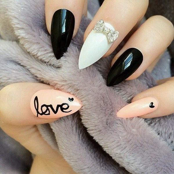 57+ Most Beautiful Stiletto Nail Art Design Ideas