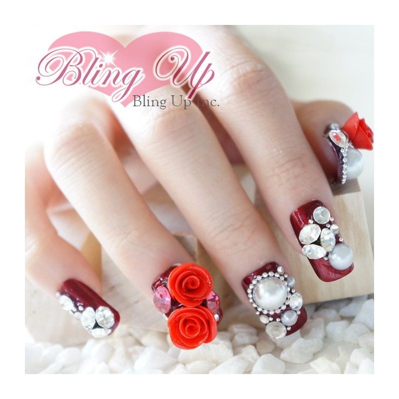 Old Fashioned 3d Rose Nail Design Image Collection - Nail Art Ideas ...