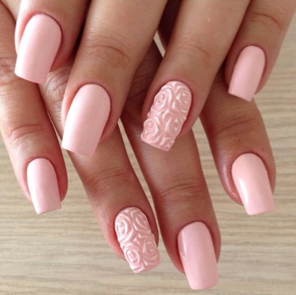 Acrylic Nail Art Rose: 35+ Best 3D Rose Flowers Nail Art Design Ideas