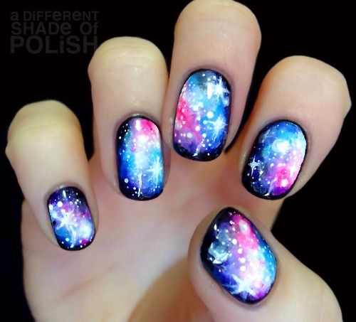 Gelaxy Gel Nail Polish: 55 Best Galaxy Design Nail Art Ideas