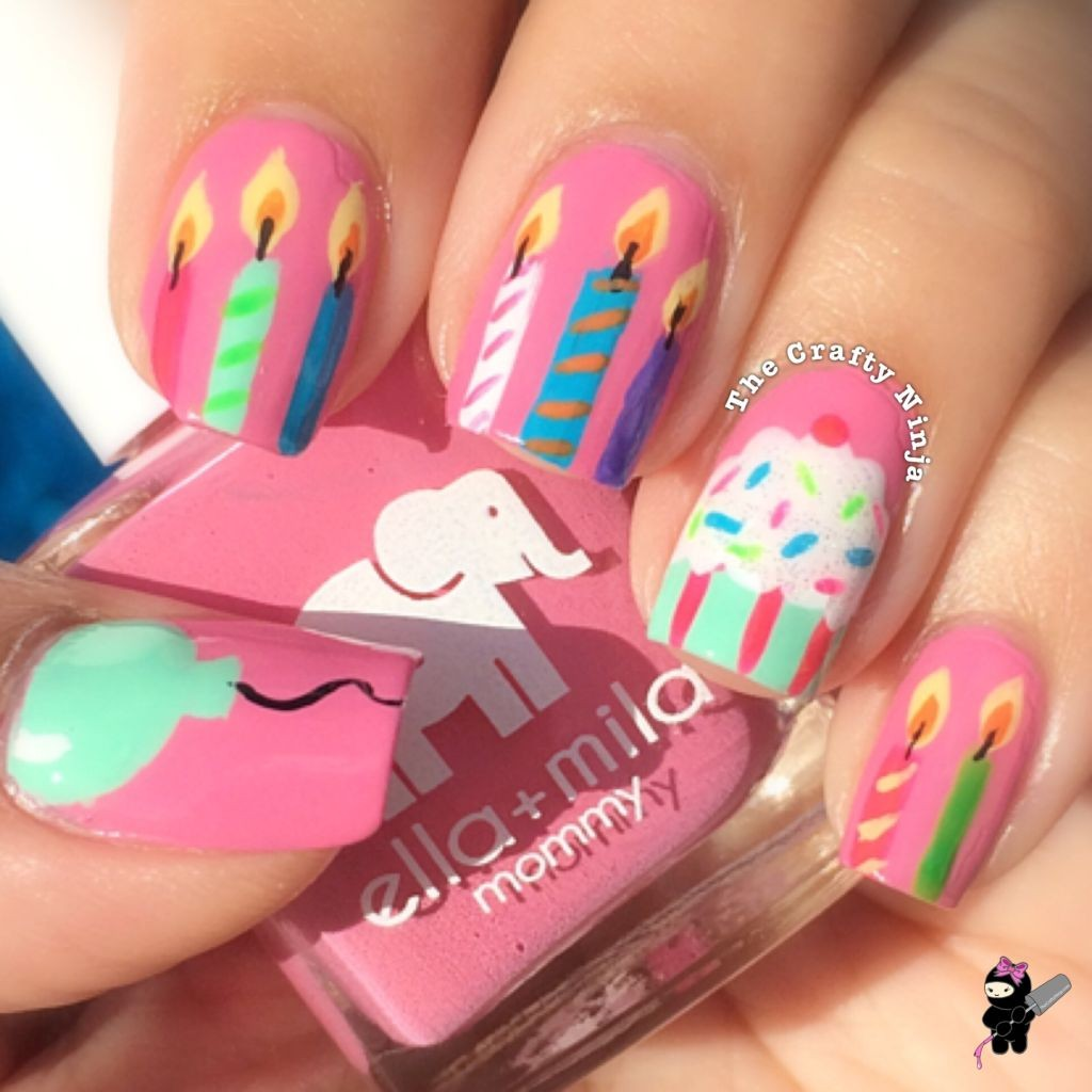 Birthday Cake Nails: 30+ Most Adorable Birthday Nail Art Designs