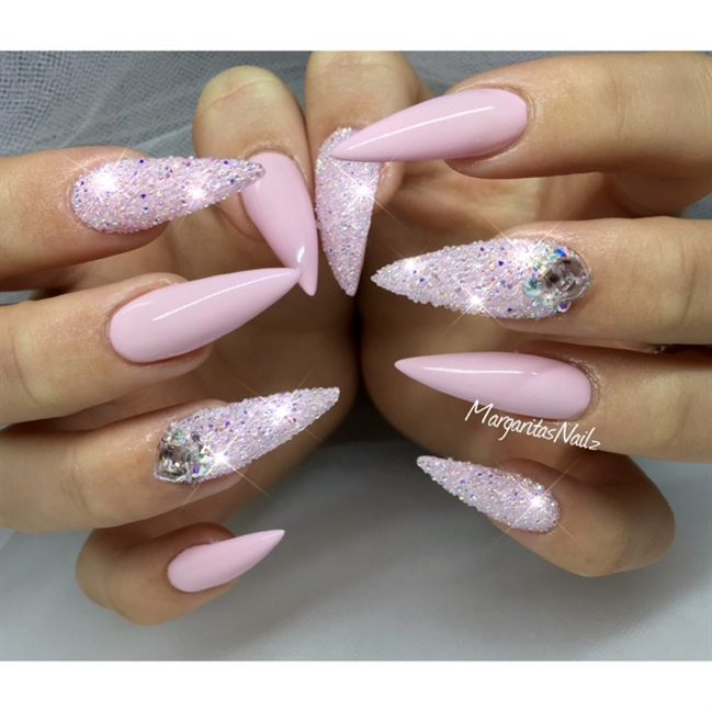 Stiletto Nail Art: 42 Most Beautiful Pink Stiletto Nail Art Design Ideas For