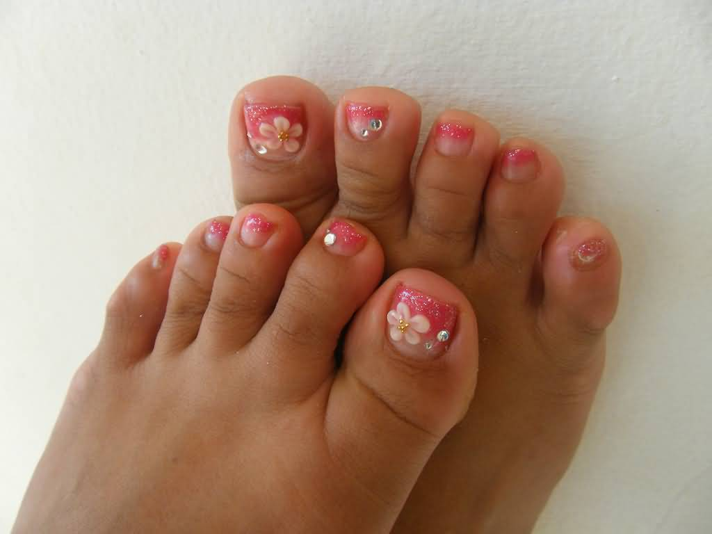 cute toes nail designs 25 cute and adorable toenail art designs