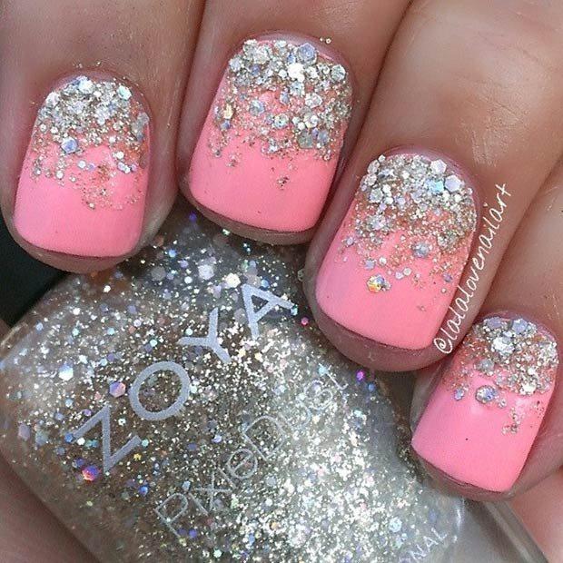 57 Most Beautiful Glitter Nail Art Design Ideas: 60 Most Beautiful Glitter Nail Art Ideas