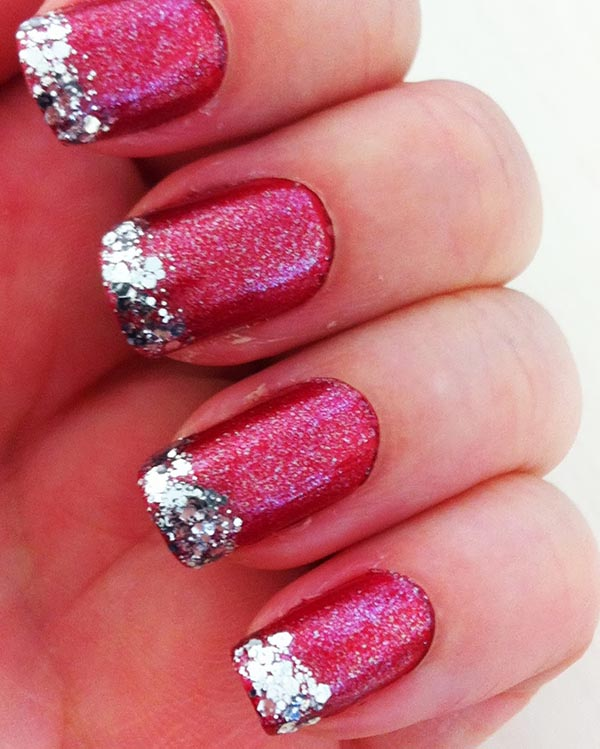 Silver and pink nail art images nail art and nail design ideas pink and silver nail art designs choice image nail art and nail nail designs red glitter prinsesfo Images