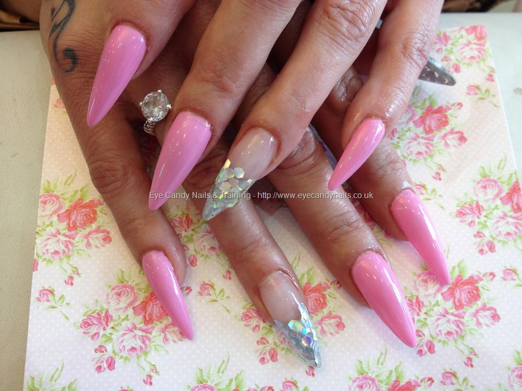 42 Most Beautiful Pink Stiletto Nail Art Design Ideas For Teen Girls