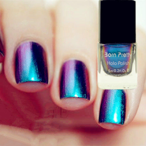 30 cool hologram nail art designs