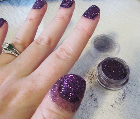 57 most beautiful glitter nail art design ideas purple glitter nail art design idea prinsesfo Image collections