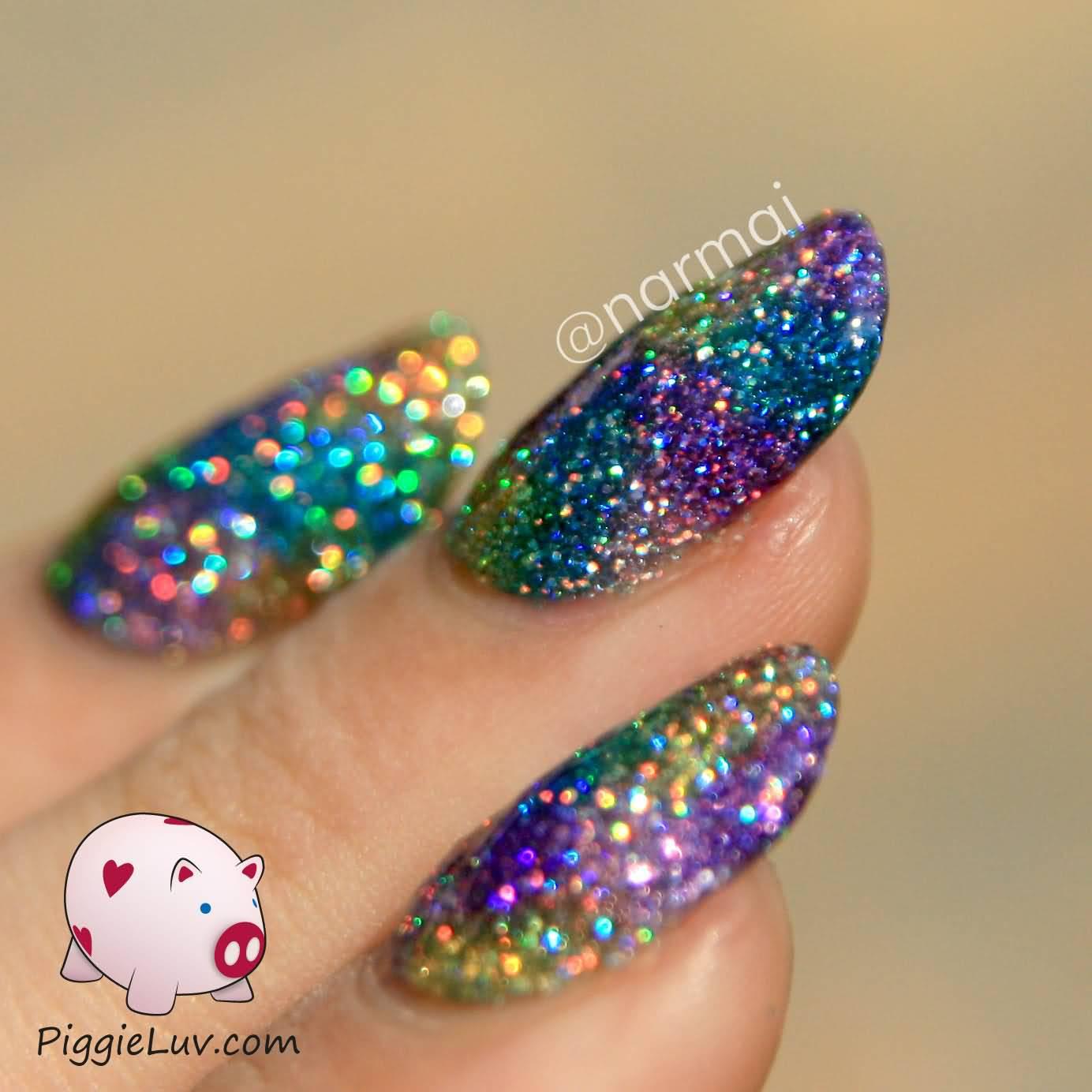 Glitter Nail Art Designs: 60 Most Beautiful Glitter Nail Art Ideas