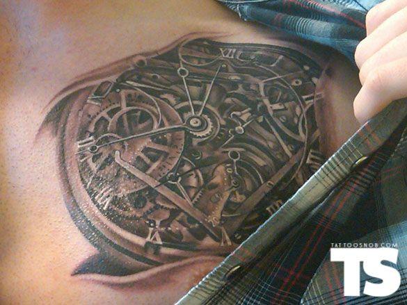 56 Mechanical Gear Tattoos
