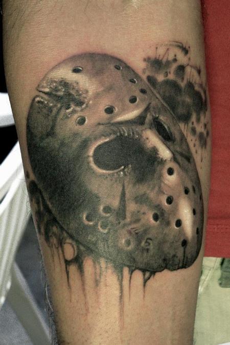 35 Wonderful Jason Mask Tattoos
