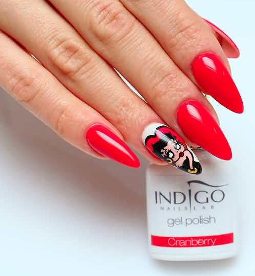 Betty Boop Nails: 40+ Most Stylish Red Stiletto Nail Art Ideas