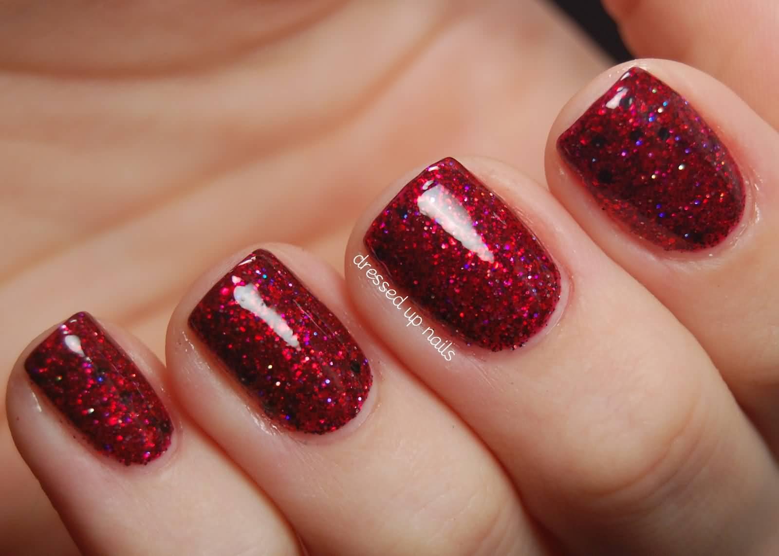 52+ Classic Glitter Nail Art Design Ideas For Trendy Girls
