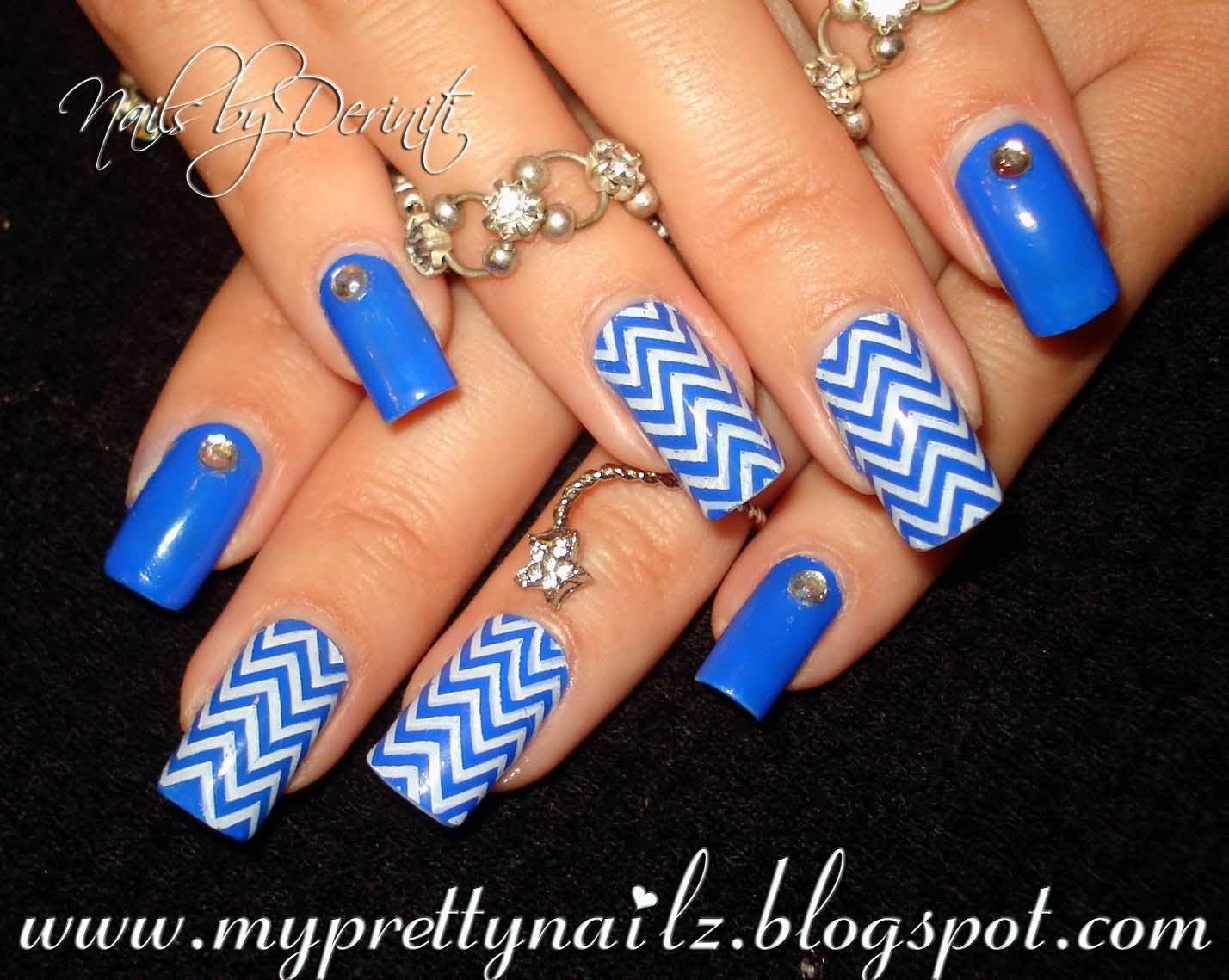 81 Cool Royal Blue Nail Art Design Ideas For Trendy Girls