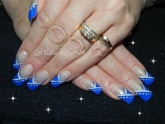 Royal blue and white nail designs images nail art and nail royal blue and white nail designs choice image nail art and nail royal blue and white prinsesfo Choice Image