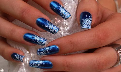 Royal Blue Mermaid Nail Art Design Idea - 81 Cool Royal Blue Nail Art Design Ideas For Trendy Girls