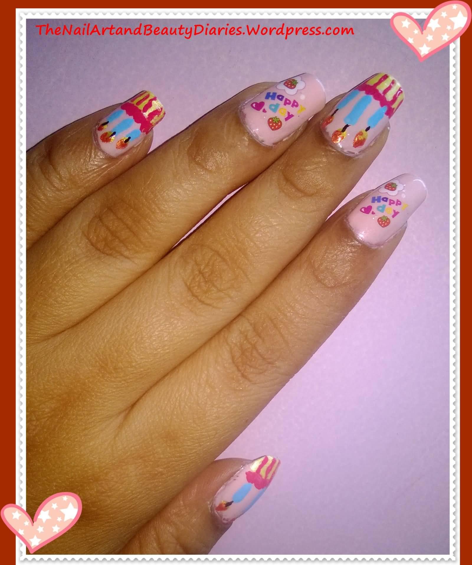 Easy Nail Designs For Birthdays: Birthday nail art easy ideas. Cute ...