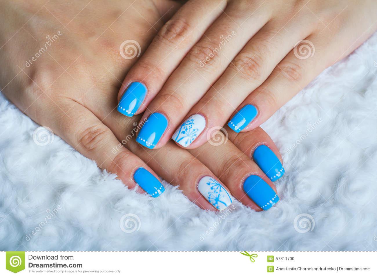 52+ Most Stylish Blue Nail Art Ideas