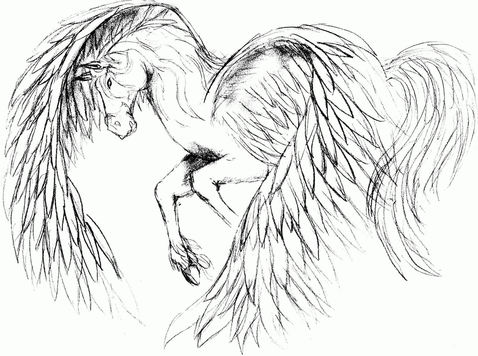 10 Simple Pegasus Tattoos