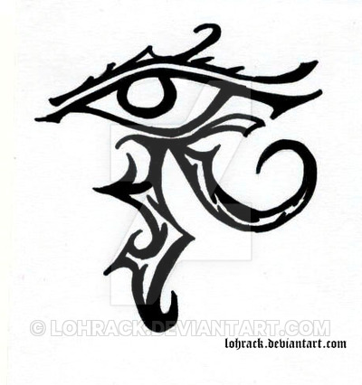 02c588a21 Simple Tribal Horus Eye Tattoo Design By Lohrack · 51+ Gothic Fairy Tattoos  Collection