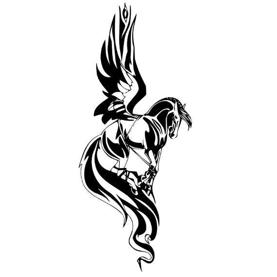40 famous pegasus tattoo designs. Black Bedroom Furniture Sets. Home Design Ideas