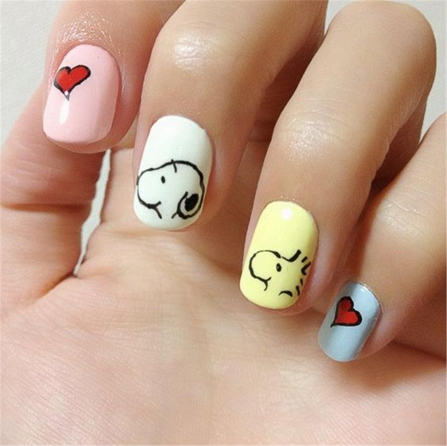 cartoon character nail designs image collections nail art designs