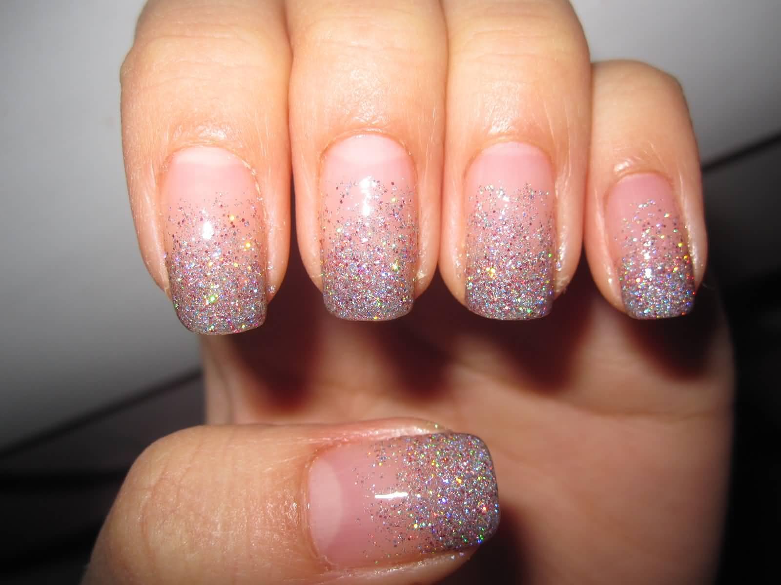 40 Most Amazing Glitter French Tip Nail Art Design Idea