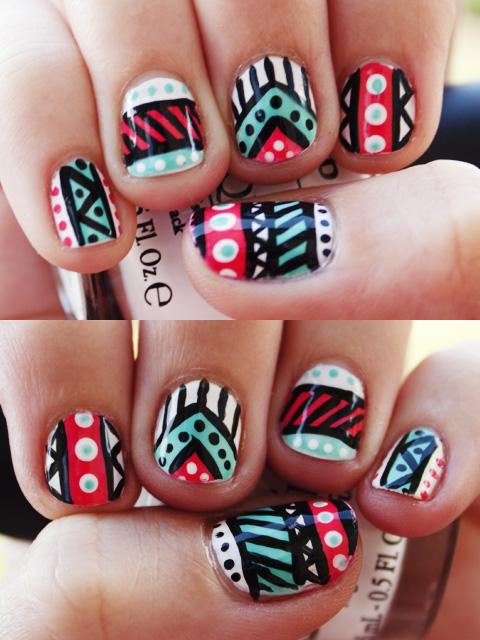 60 most stylish tribal nail art design idea stylish tribal nail art design idea prinsesfo Image collections