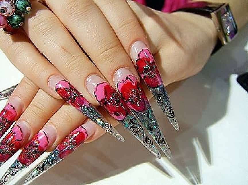 60+ Most Beautiful Stiletto Nail Art Designs Ideas For Teen Girls