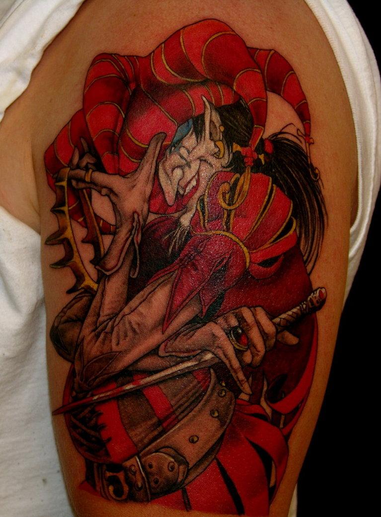 7 jester tattoos on half sleeve - Wicked 3d tattoos ...