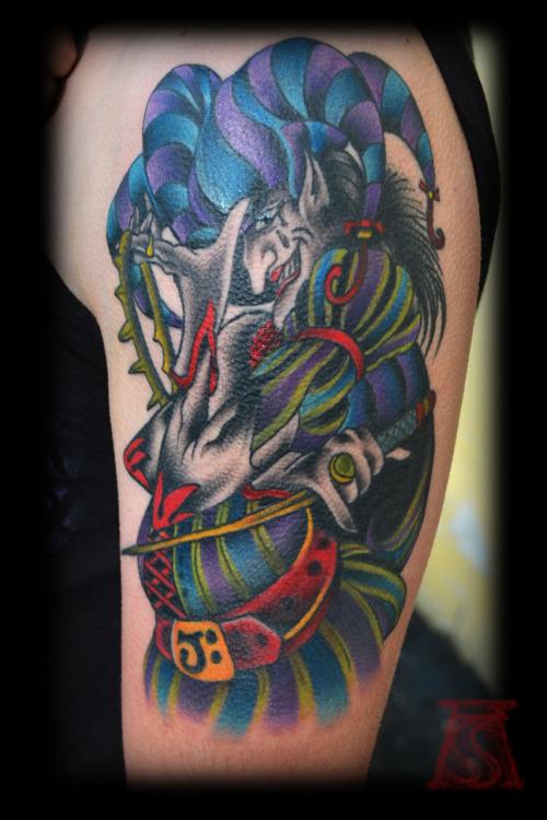 25  amazing jester tattoo designs