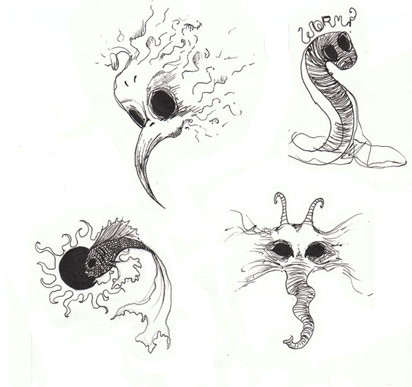 terrible worm with fish and bird tattoo design by mysticwolf642. Black Bedroom Furniture Sets. Home Design Ideas