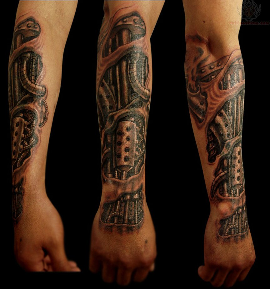54 mechanical sleeve tattoos for Forearm tattoo sleeves