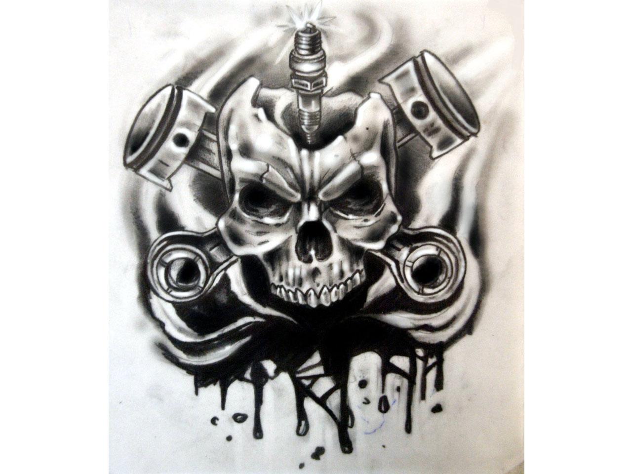 Tattoo gear tattoo sleeve mechanic tattoo mechanical tattoo gears - Terrific Mechanical Skull Tattoo Stencil