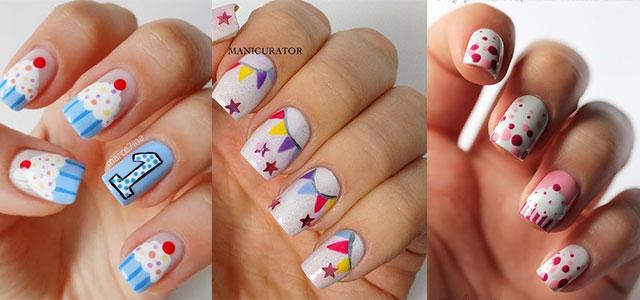 50 best birthday nail art designs three beautiful birthday nail art designs urmus Images