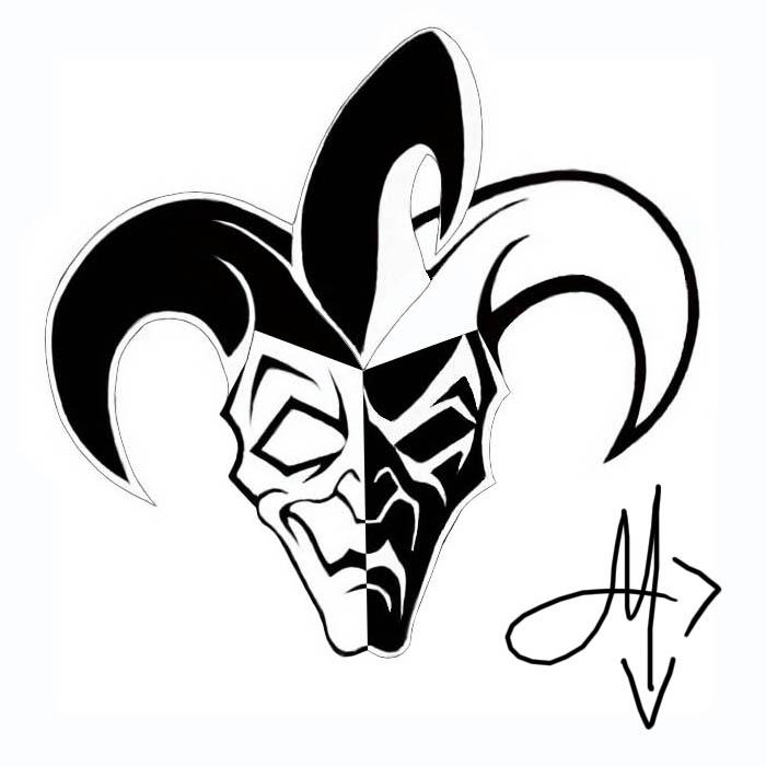 20 jester mask tattoos