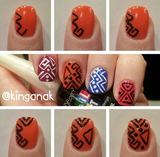 Tribal Nail Art Design Tutorial
