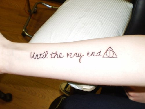 Harry Potter Until The Very End Quote Quora: 18+ Hallows Tattoos On Forearm
