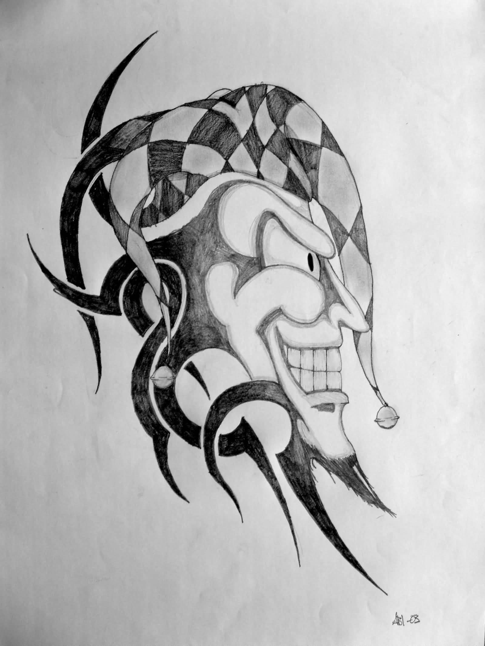 15 tribal jester tattoos. Black Bedroom Furniture Sets. Home Design Ideas